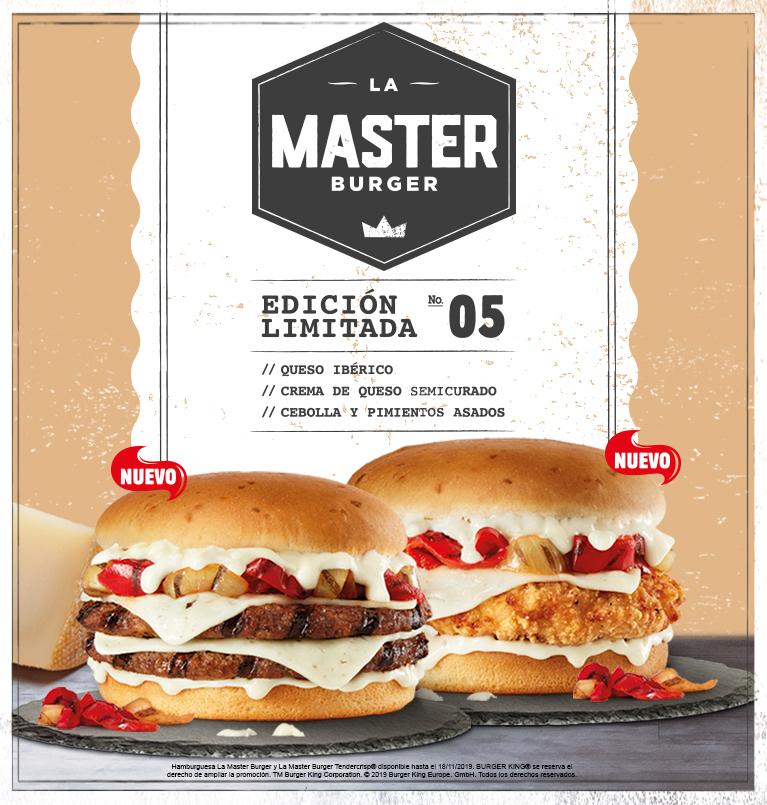 La Master Burger GRATIS con tu pedido a domicilio