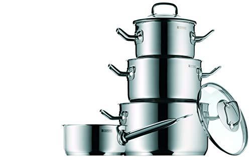 WMF Profi Plus, batería de cocina de 4 piezas para todo tipo de cocinas