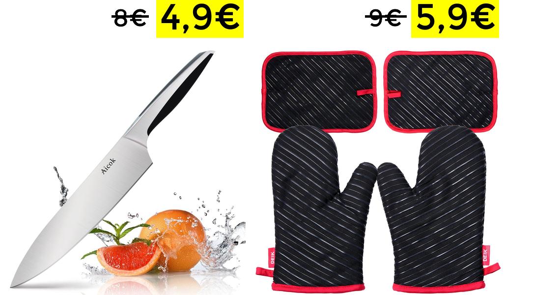 Cuchillo de acero 20 cm de hoja solo 4.9€