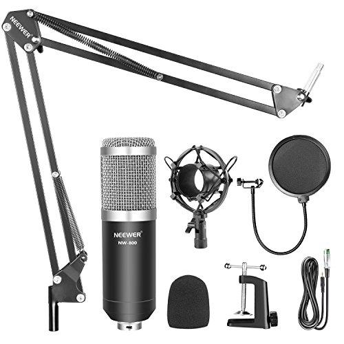Microfono Neewer NW-800 Profesional Acompañado de un Kit para su montaje en suspensión