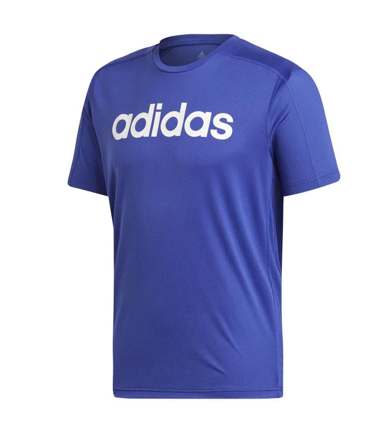 Camiseta ADIDAS D2M Cool color azul talla L