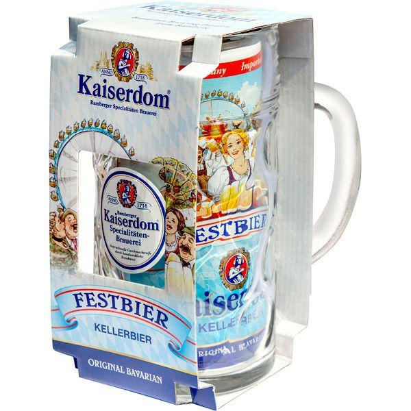 2x1 Kaiserdom Cerveza Rubia Alemana Edición Oktoberfest lata 1L + Jarra