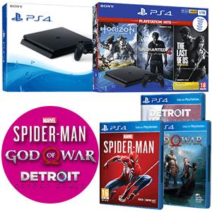 PS4 Slim + Juego (Marvel´s Spider-Man, God of War o Detroit Become Human de regalo)