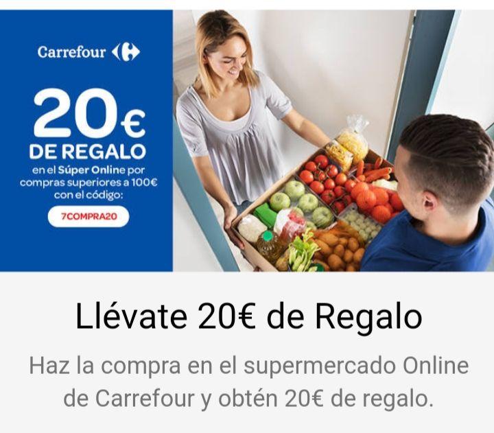 20 euros descuento en carrefour online