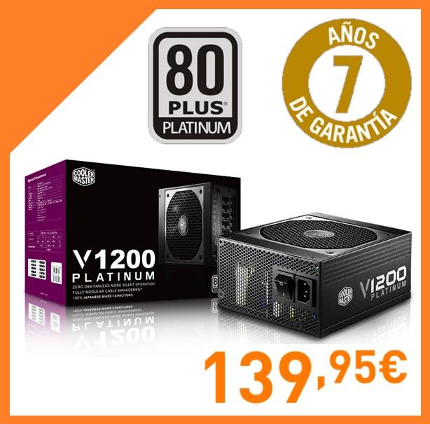 Cooler Master V1200 80 Plus Platinum 1200W Modular
