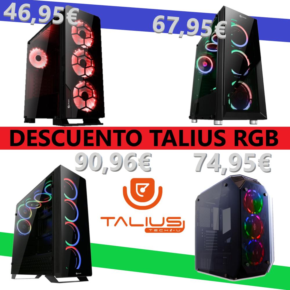 Selección de Cajas ATX de Talius RGB / de 45€ a 90€