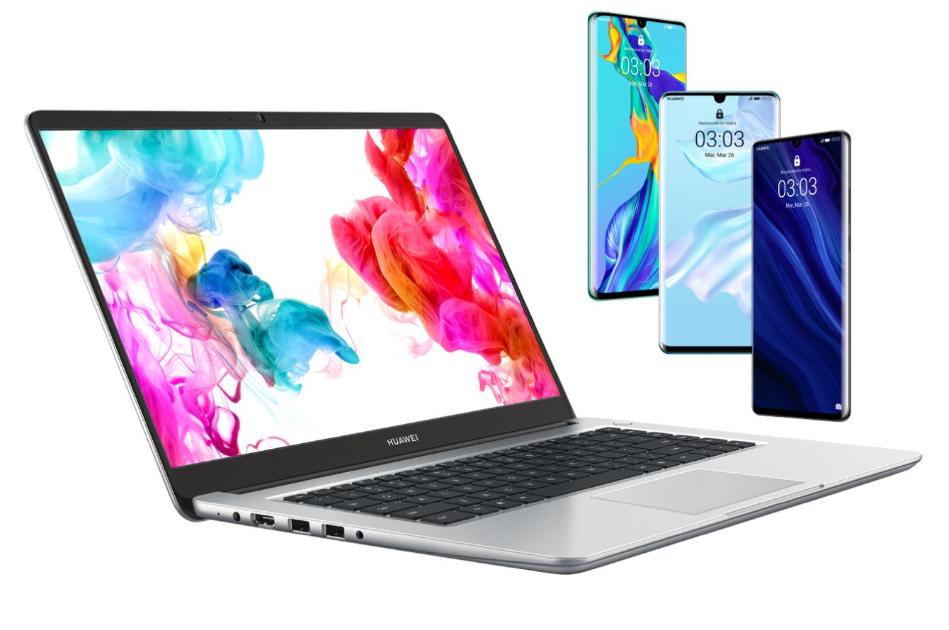 Huawei P30 Pro + Huawei Matebook D i3 con Vodafone