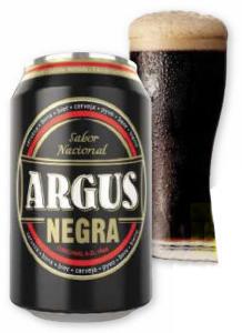 Cerveza Argus Negra. Lata 33 cl. Lidl.