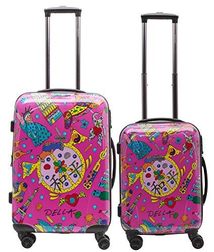 Packenger One World 2 maletas, Maleta 102/1-111P-15, 70 cm, 104 L, Rosa