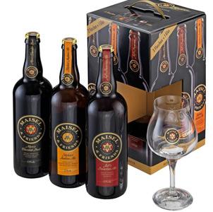 Pack 3 Cervezas Baviera 75 cl + Copa de regalo