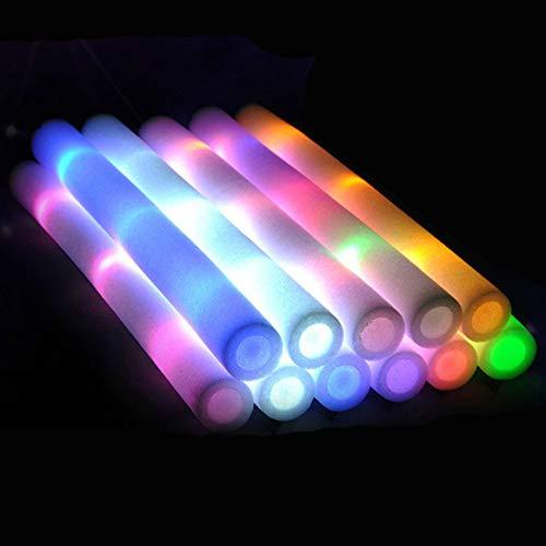 Lote de 52 elementos fluorescentes para iluminar en la oscuridad y otras chorradas varias