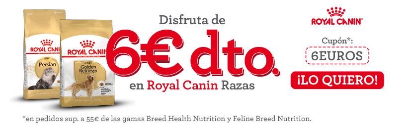 *PROMOCIÓN DESCUENTO 6€ ROYAL CANIN GAMA BREED + 15%DTO EN PRIMER PEDIDO.