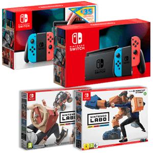 Nintendo Switch 2019 + Nintendo Labo a elegir (Kit Robot o Kit Vehículos)