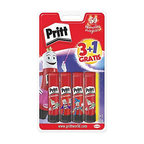 Pritt Barra Adhesiva, 4 x 11 g Pritt Stick por 3,20 € (plus)