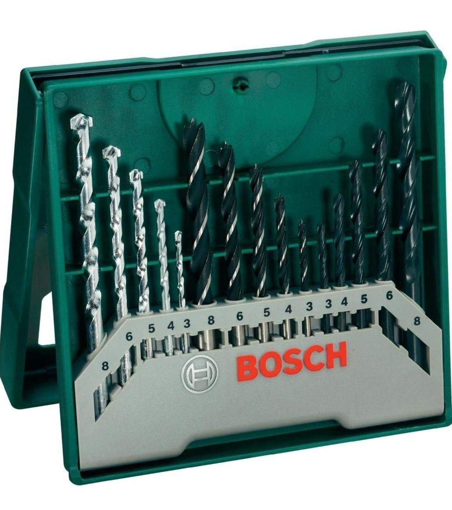 Bosch Mini X-Line - Set de 15 brocas mixto (producto plus)