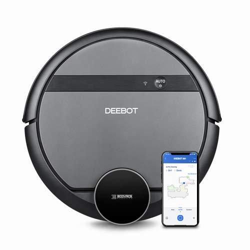 Ecovacs Deebot 901 - Robot Aspirador, mapeo inteligente láser, control con Alexa, App, Wifi, reanuda limpieza tras recarga,...