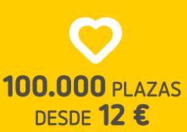 100.000 plazas a Europa desde 12 € - Vueling