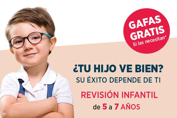 Gafas gratis para niños (si las necesitan)