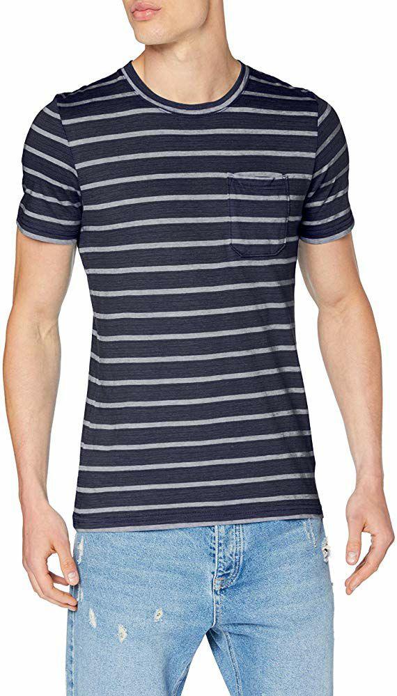 Camiseta JACK AND JONES  | Talla XL, Azul Marino (Producto plus)