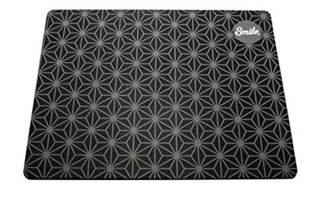 Smile Alfombrilla ratón Black Geometric de silicona