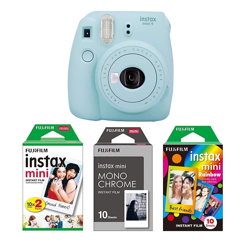 Fujifilm Instax Mini 9 - Cámara instantánea + 40x Papel fotográfico
