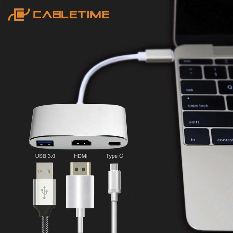 USB C 4K HDMI Tipo C 3.1 a HDMI Adaptador USB 3.0 Convertidor USB-C