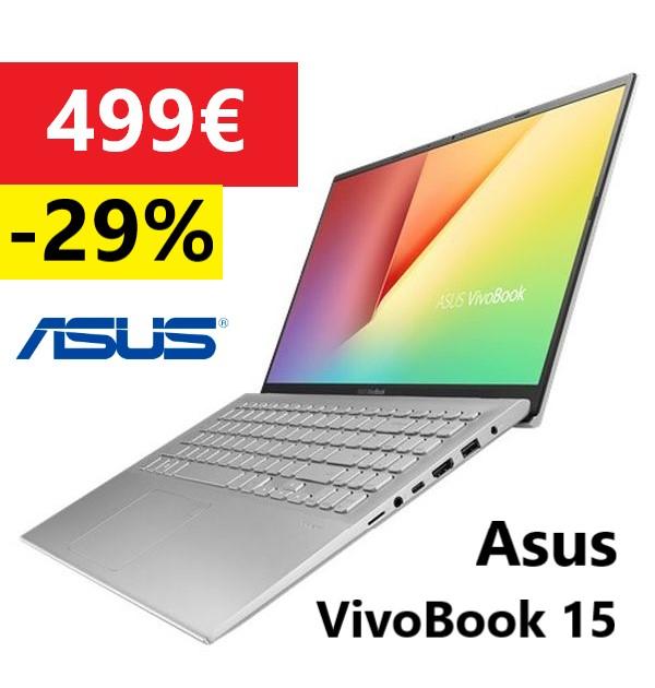 "Asus VivoBook 15  R5 3500U / Vega 8 / 8GB / 256GB SSD / FreeDOS / 15.6"" (X512DA-BR500)"