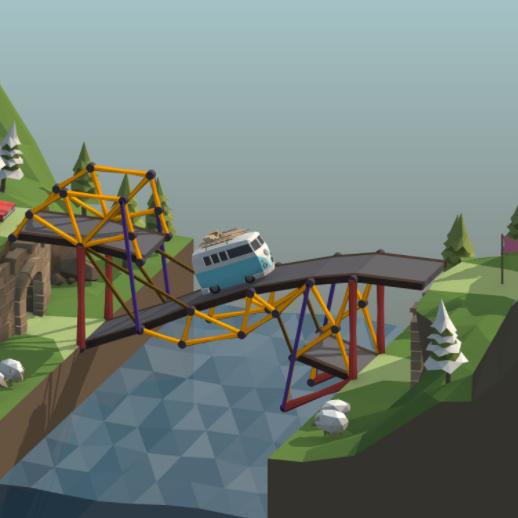 Poly Bridge (Contrucción de puentes) en Steam al 70% descuento