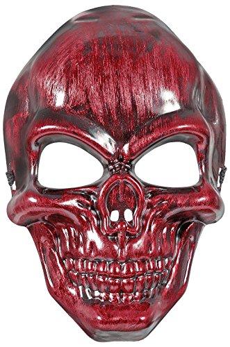 Máscara calavera rojo metálico - talla única producto plus