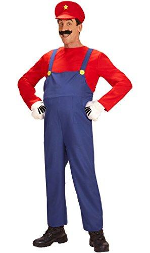 Disfraz de fontanero estilo súper Mario talla M