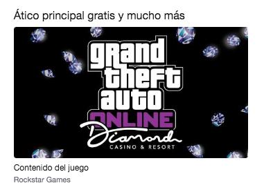Ático principal gratis y mucho más en Grand Theft Auto con Twitch Prime
