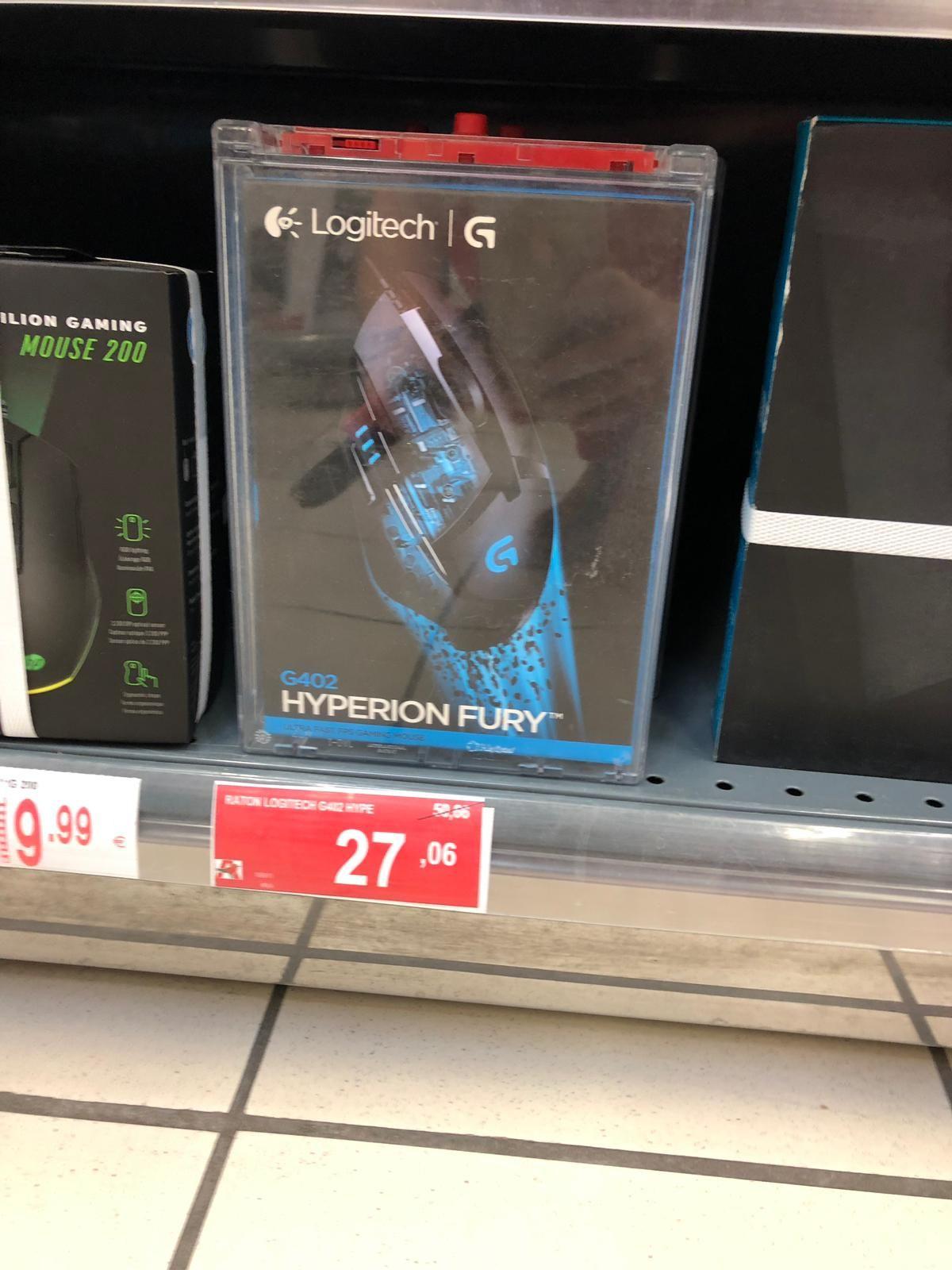 Ratón Logitech G402 Hyperion Fury Gaming (Alcampo Toledo)