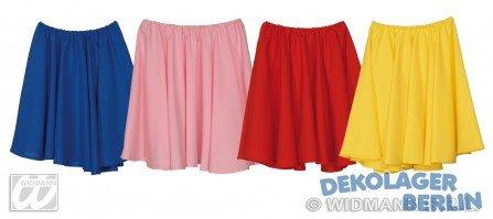 4 faldas Rock & roll (Rojo, amarillo, azul y rosa)