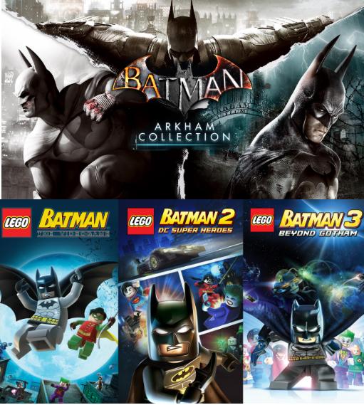 6 Juegos: Batman Arkham Collection + trilogía LEGO Batman GRATIS