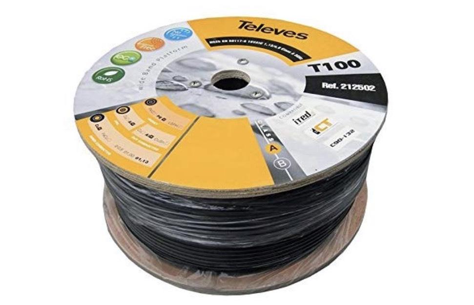 100 metros de cable coaxial