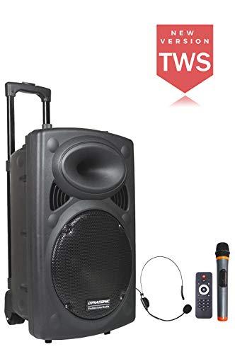 Altavoz sistema megafonía Dynapro 12 TWS Bluetooth