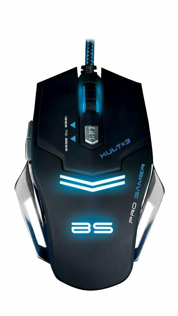 Ratón Bluestork KULT3 gaming iluminado multiLED base metalica  2500 Dpi