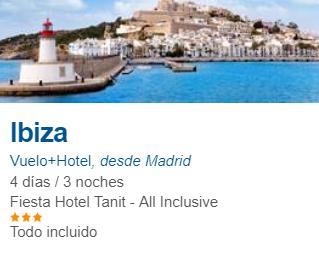 Octubre Ibiza 4 días todo incluido