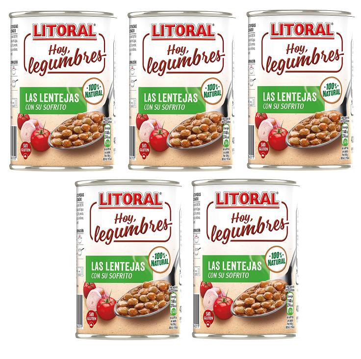 Pack de 5 - Lentejas de la Abuela 440 g - Plus