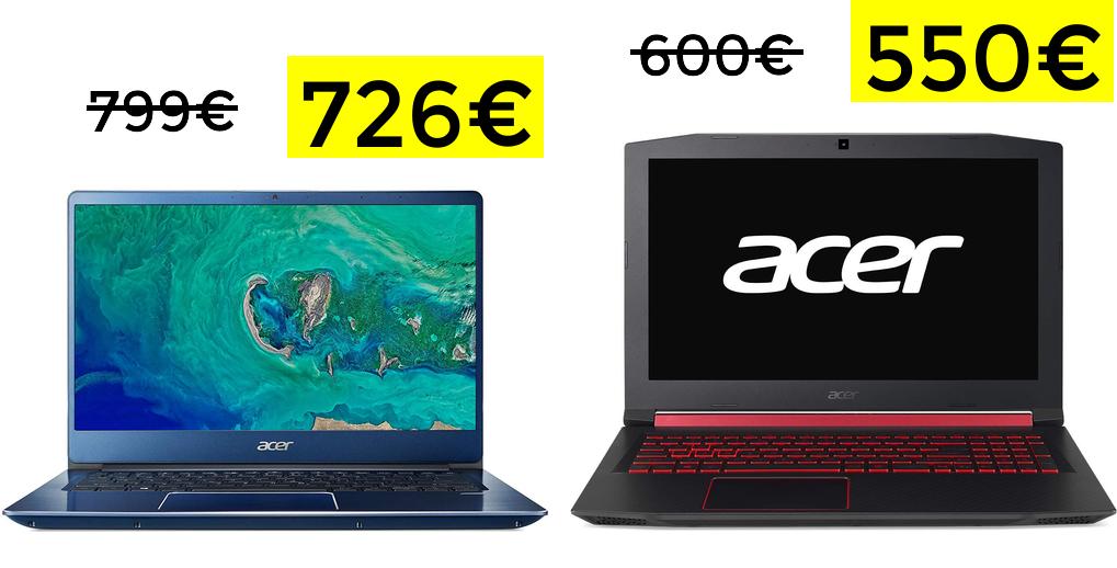Acer Swift 3 I7 8G + MX250 + 8GB solo 726€