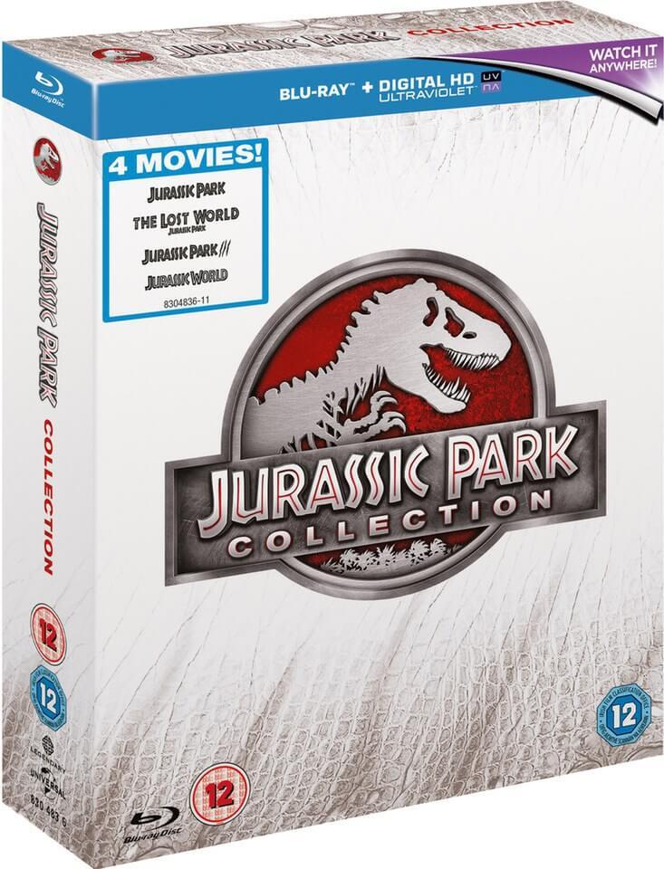 Blu-ray Jurassic Park Collection (I, II, II y Jurassic World)