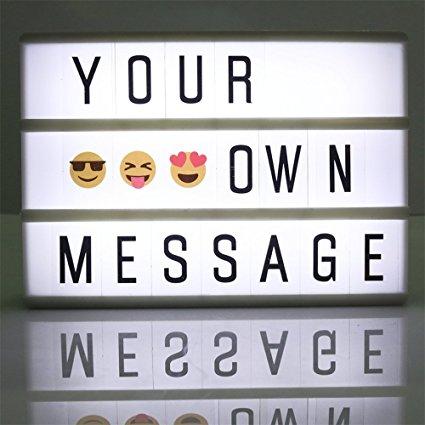 Caja de luz A6 con letras solo 5.99€
