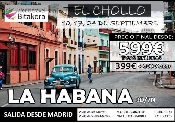 Vuelo, hotel y traslados a Cuba por 599 euros.