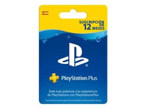 Tarjeta PSN Plus 1 año Mediamarkt Ebay