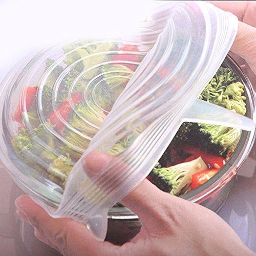 SET de 6 Tapaderas de Silicona para Bowls