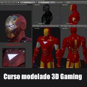 Curso Blender modelado juegos 3D (22h, inglés)