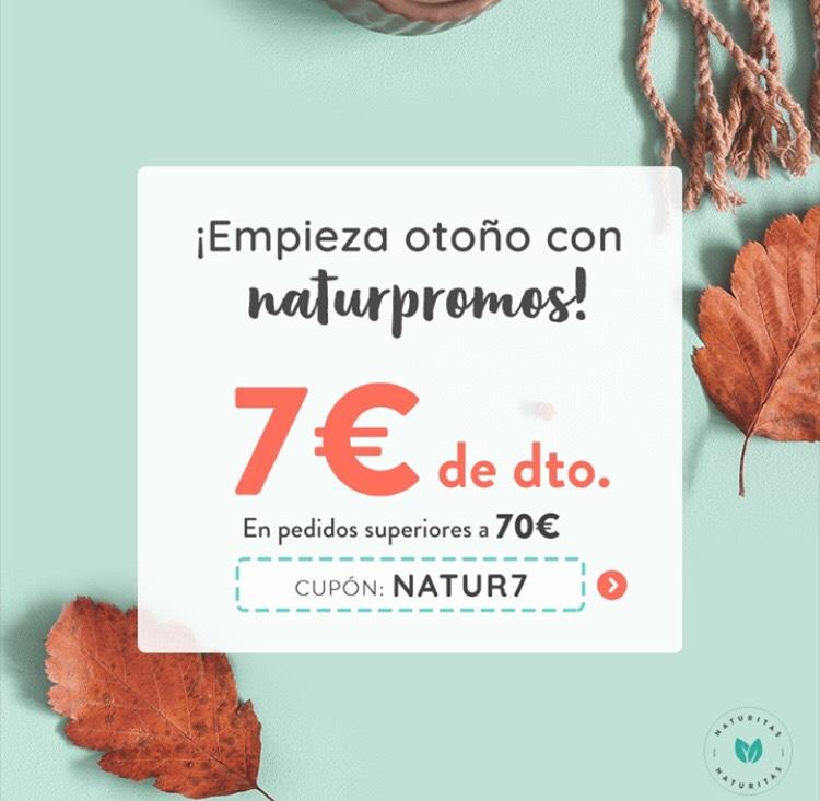 7€ de descuento en toda la web de Naturitas