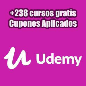 +238 cursos gratis en la Plataforma Udemy (Inglés)