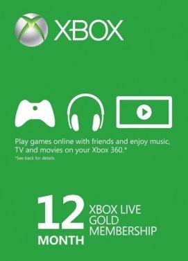 12 meses de Gold for Xbox live