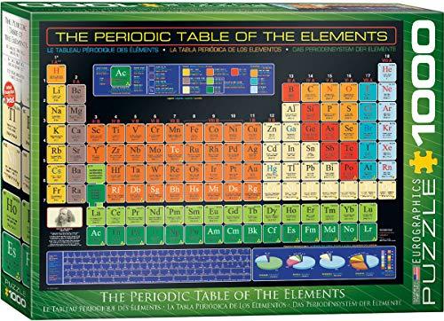 Tabla Periódica - Puzzle 1.000 piezas Eurographics